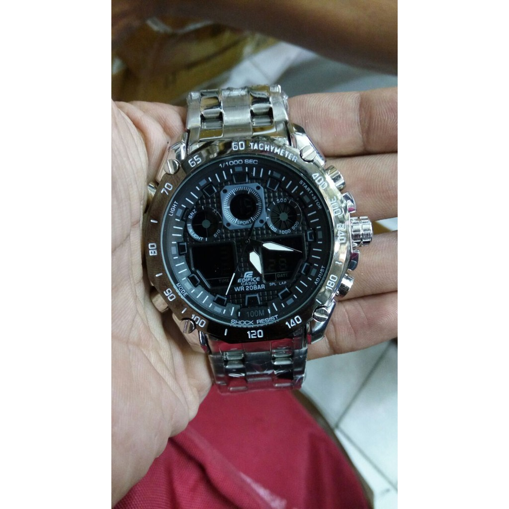 Jam Tangan Cowok Expedition 6711 Black Orange Bagus Keren Original | Shopee Indonesia