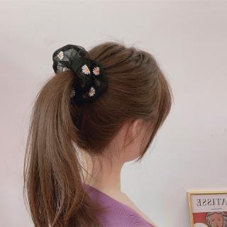 Ikat Rambut Bunga Daisy Gaya INS Korea Segar Kecil Tali Rambut Elastis Untuk Wanita 7
