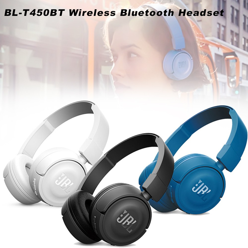 Suitable For Jbl T450bt Wireless Bluetooth Headset Headset Subwoofer Mobile Phone Computer Game Call Headset Shopee Indonesia