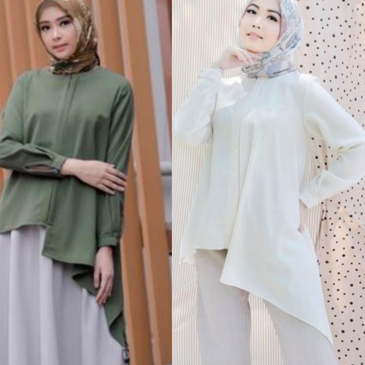 NEW PRODUCT..!! claire blouse army xs dusty M L by wearing klamby 卍