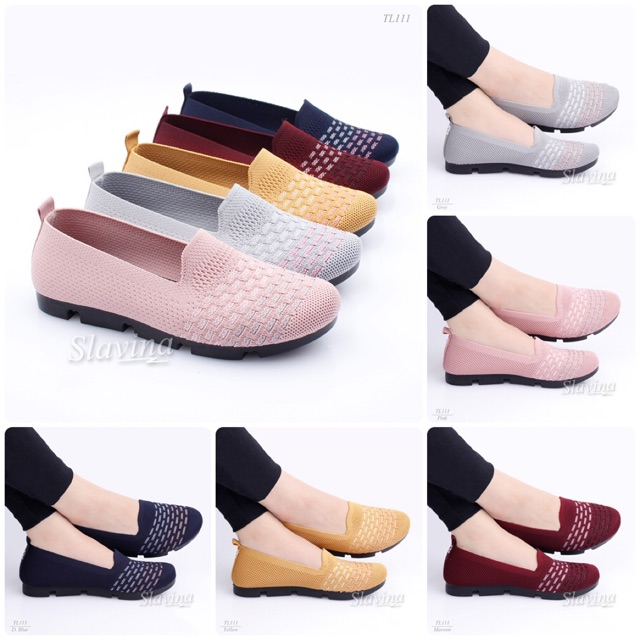 Sepatu Slavina Lindsy Flyknit Tl111 Shopee Indonesia