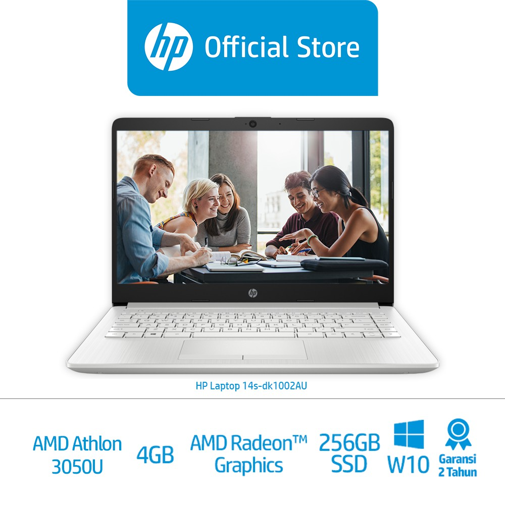Hp Laptop 14s Dk1002au Amd Athlon Silver 3050u 4gb 256g Ssd Amd Radeon Graphics W10 Shopee Indonesia