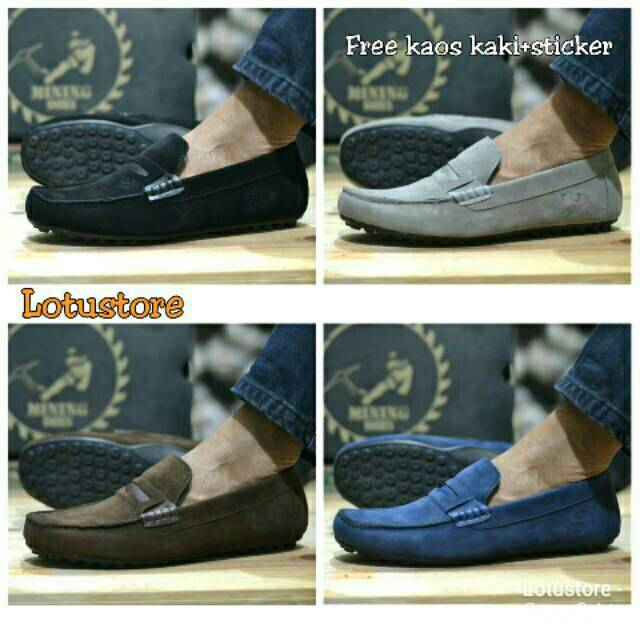 Sepatu Pria Versace Kasual slop loafer casual slip on kulit suede fashion  shoes  66197eb42e