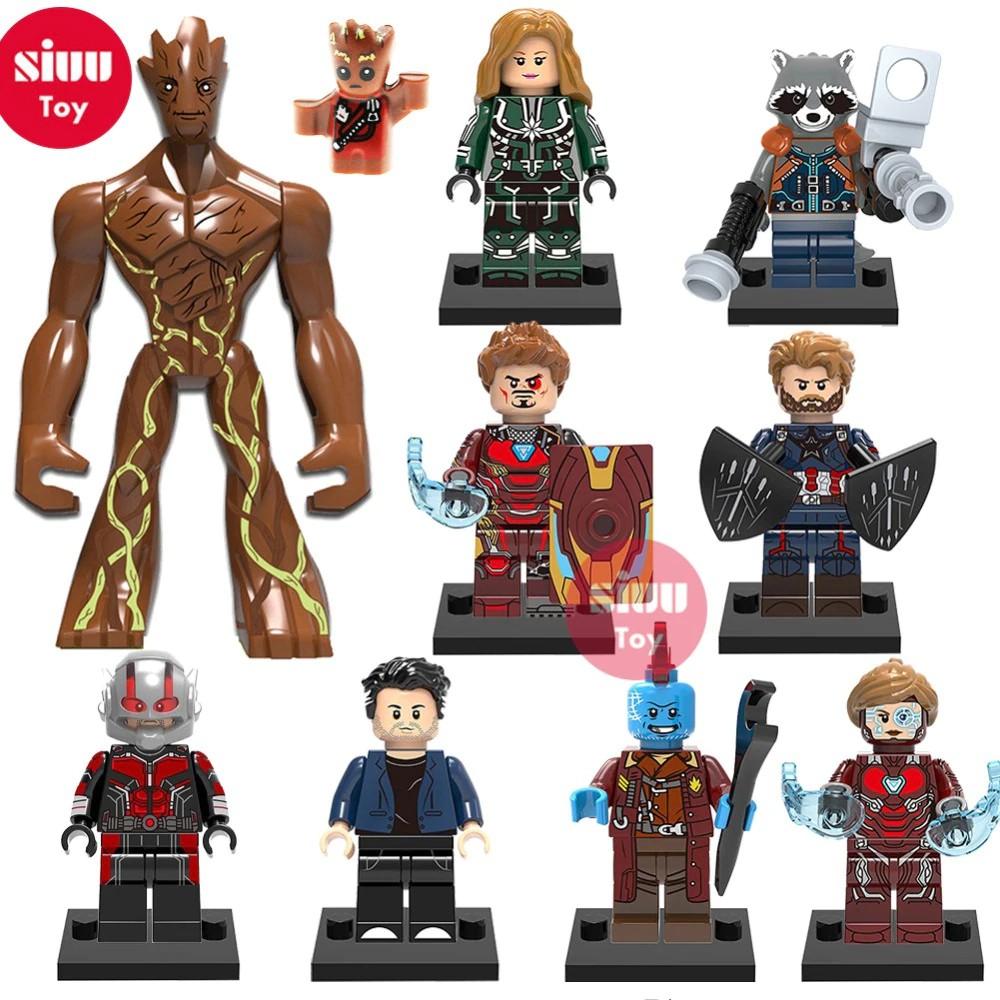 Marvel/'s Avengers Lego custom Figuren Thor Hulk Groot Ant Man Iron Man Thanos