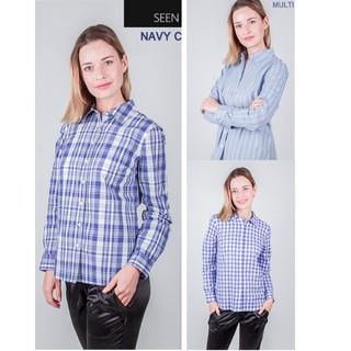 SALE Kemeja Wanita SEEN 01 - Atasan Baju Kantor Branded Original c3ede5ac43