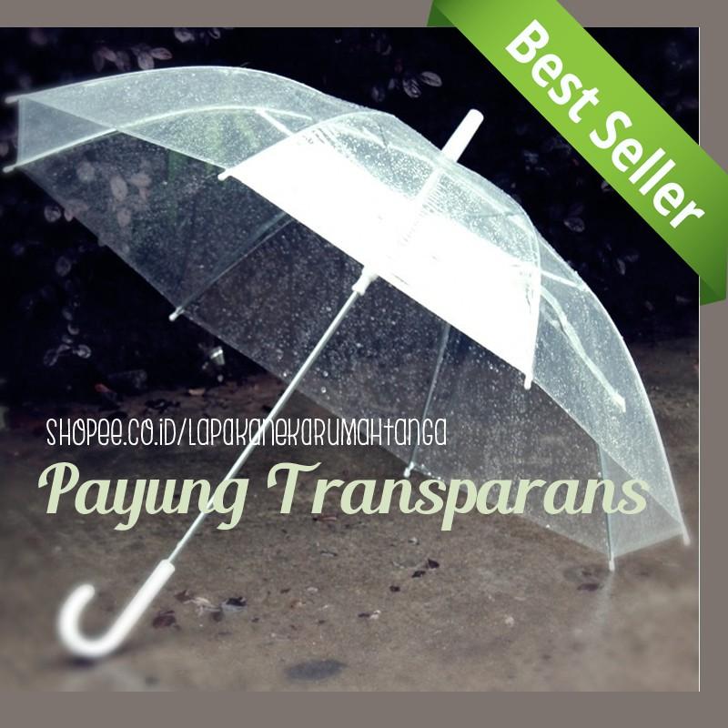 LART - Payung Transparan Bening umbrella transparant Korea Japan Best Quality