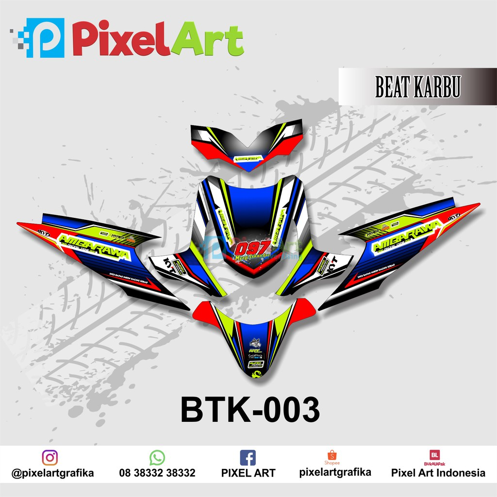 STICKER DECAL MOTOR HONDA BEAT KARBU FULL BODY PREMIUM QUALITY