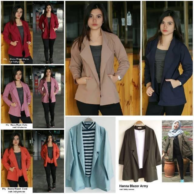 blazer coat wanita korea murah glamoury  0147a354a2