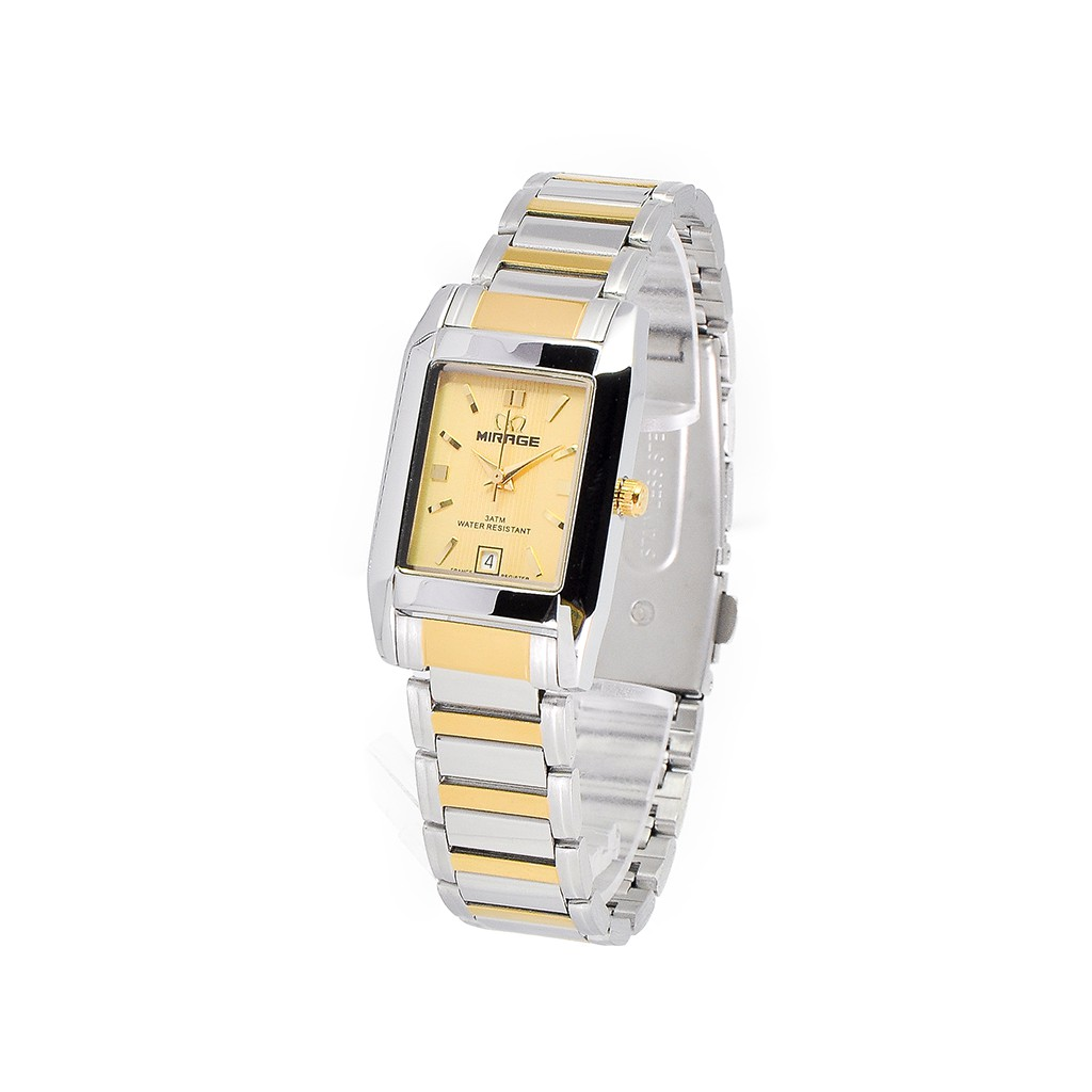Gold Premium Jam Tangan Wanita Mirage Rantai Emas 7716l Pk Shopee Original Bonia Bpt231 2112 Stainless Steel Silver Indonesia