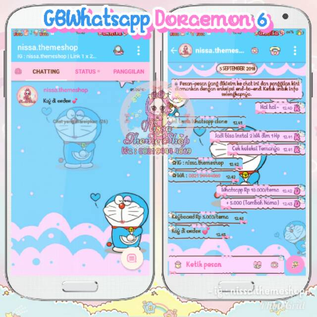 Tema Whatsapp Wa Doraemon 06 Shopee Indonesia