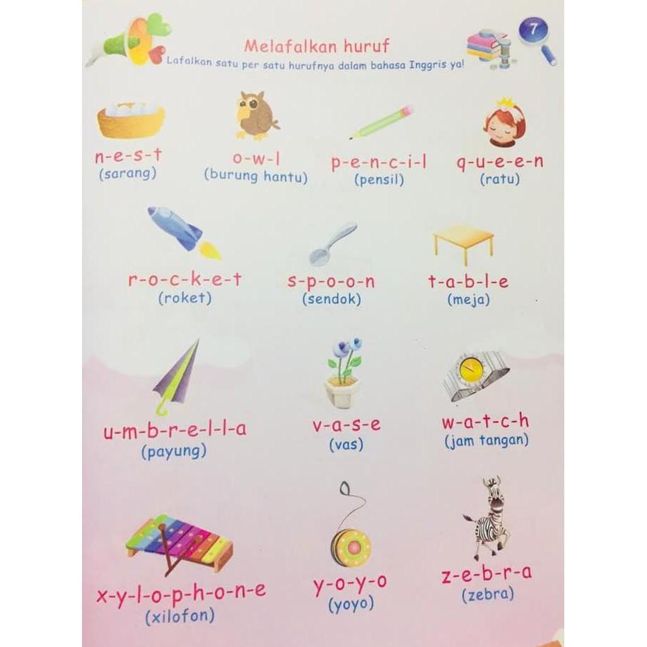 Buku Anak Membaca Menulis Menghitung Mewarnai