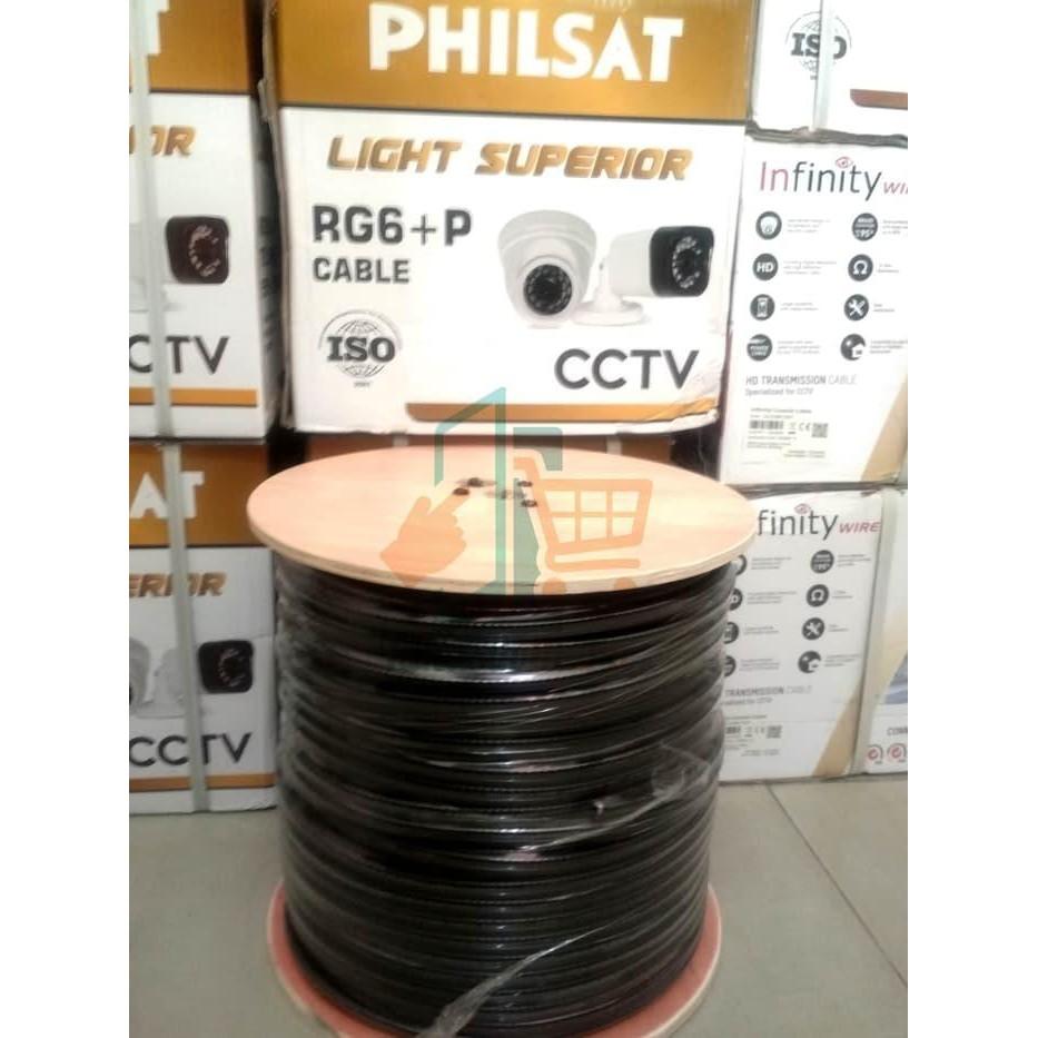 [CCTV] KABEL CCTV RG6 PLUS POWER 300 METER - 1ROLL