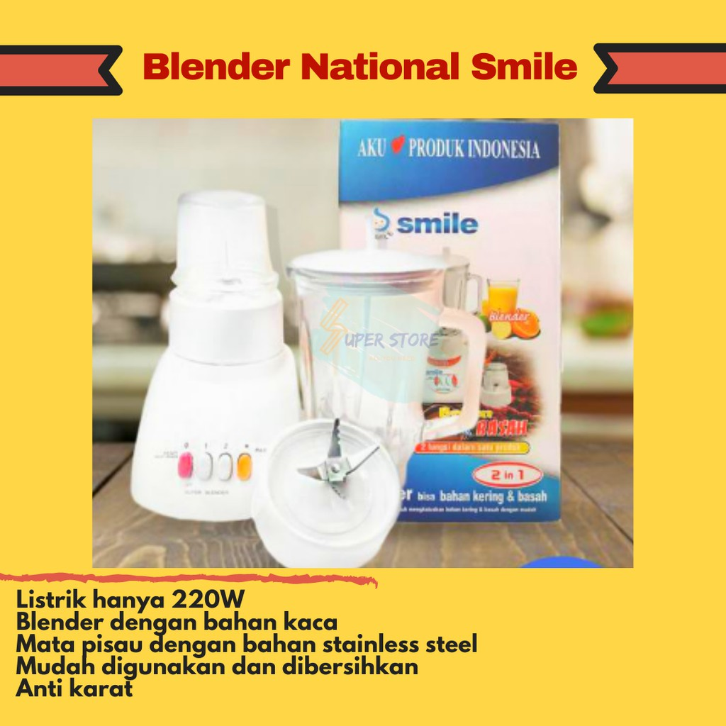 Blender National Smile / Blender Kaca Murah / Blender National
