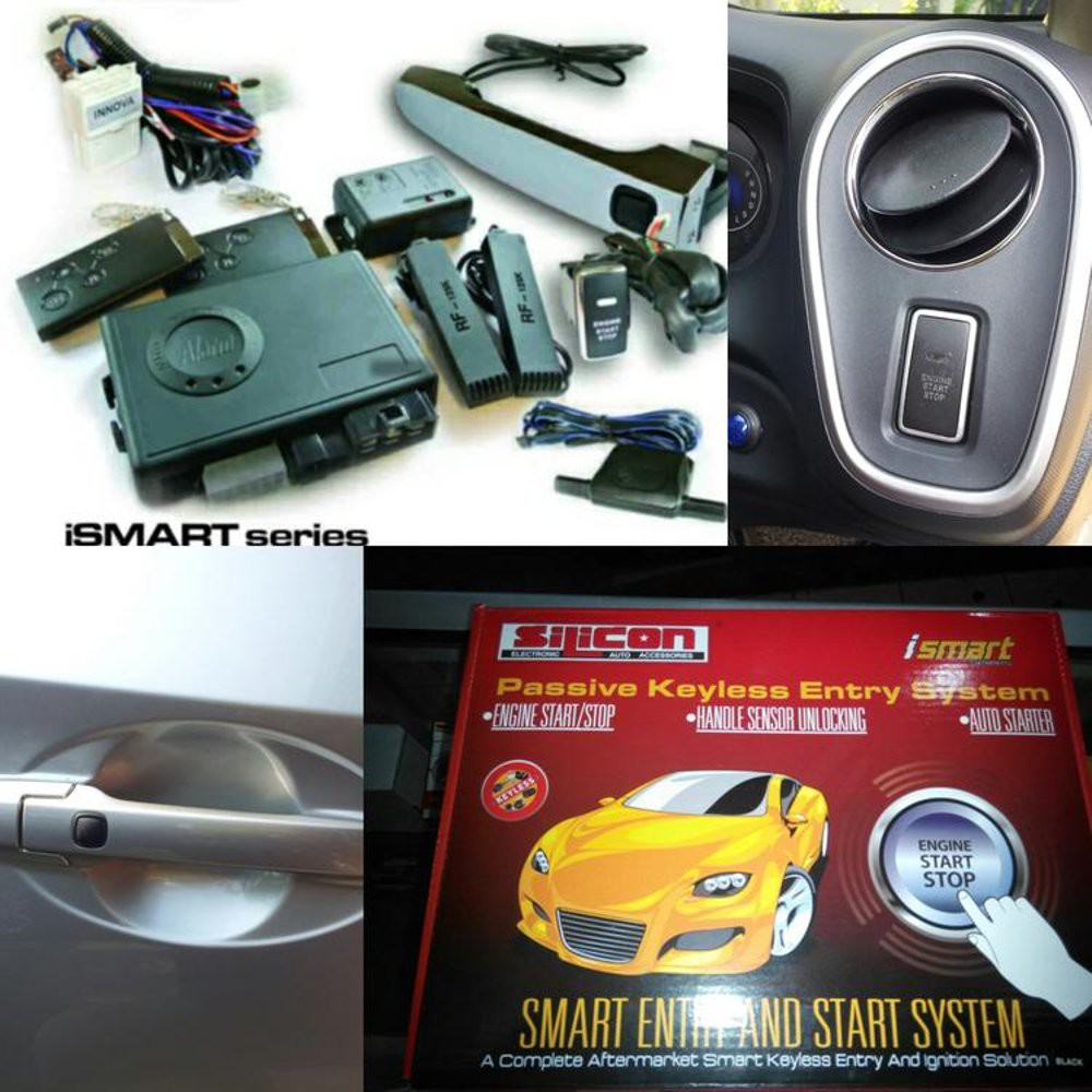 Alarm Mobil Push Button Engine Start Rfid Lock Ignitaion With Remote Keyless Entry System Black Shopee Indonesia