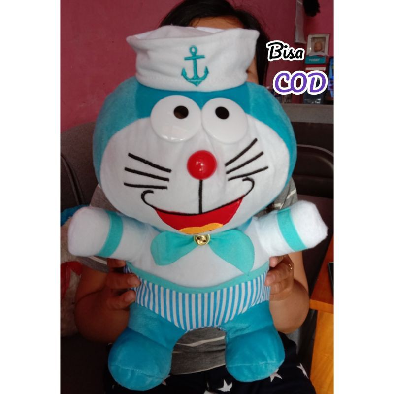 Boneka Doraemon Sailor 35 Cm Bahan Halus Boneka Dora Emon Karakter Pelaut Mainan Kado Sovenir Shopee Indonesia