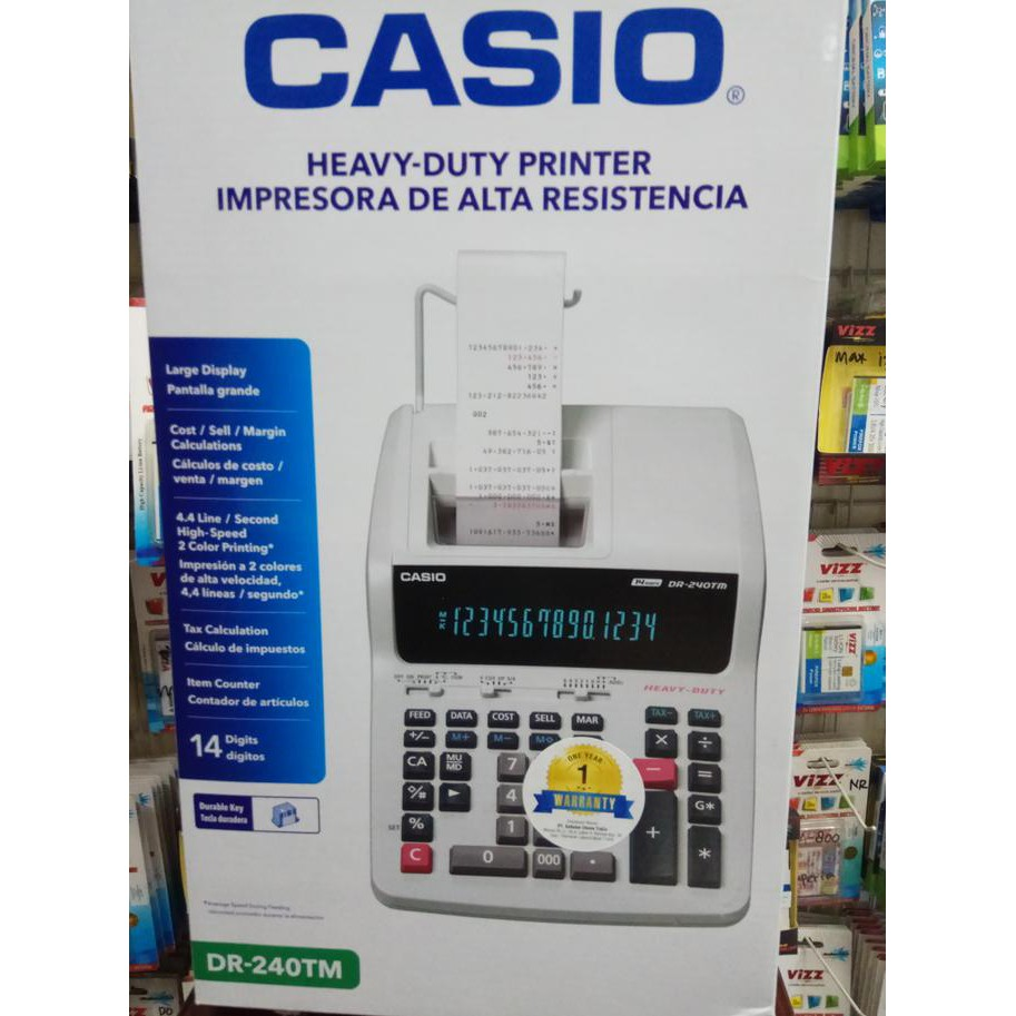Calculator Casio - Heavy Duty Printing Calculator DR-240TM | Shopee Indonesia