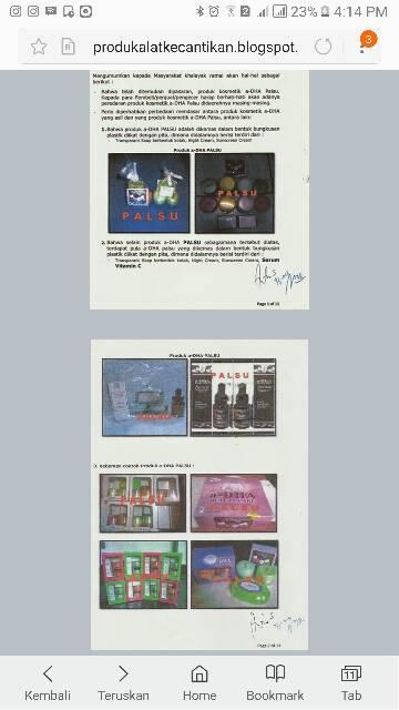 PAKET Ekonomis ADHA Cream Muka,Perawatan Wajah A-DHA White Series, ORIGINAL TERDAFTAR