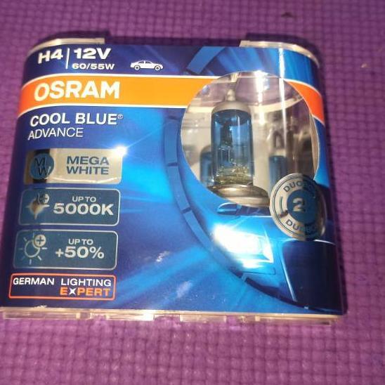 Pa La066 Lampu Halogen Utama Osram H4 Cool Blue Advance Shopee Indonesia