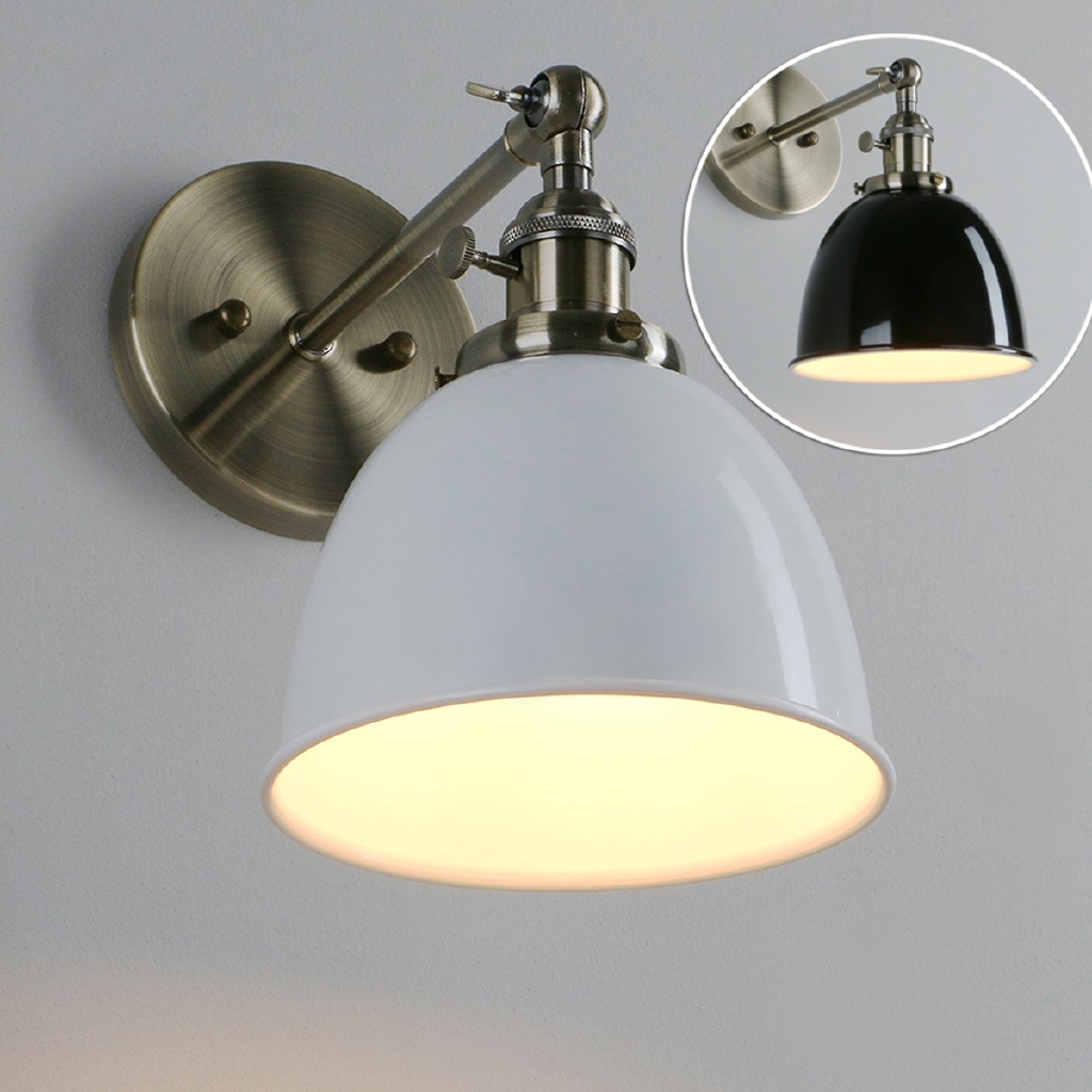 1xwall mount sconce light task lamp hardwire plug in reading bedside accent t m shopee indonesia