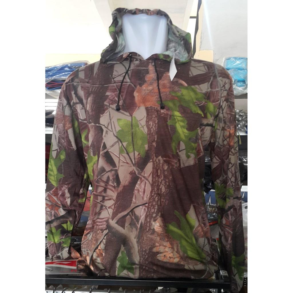kaos camo panjang hoddie realtree mossy oak hunting perbakin | Shopee Indonesia