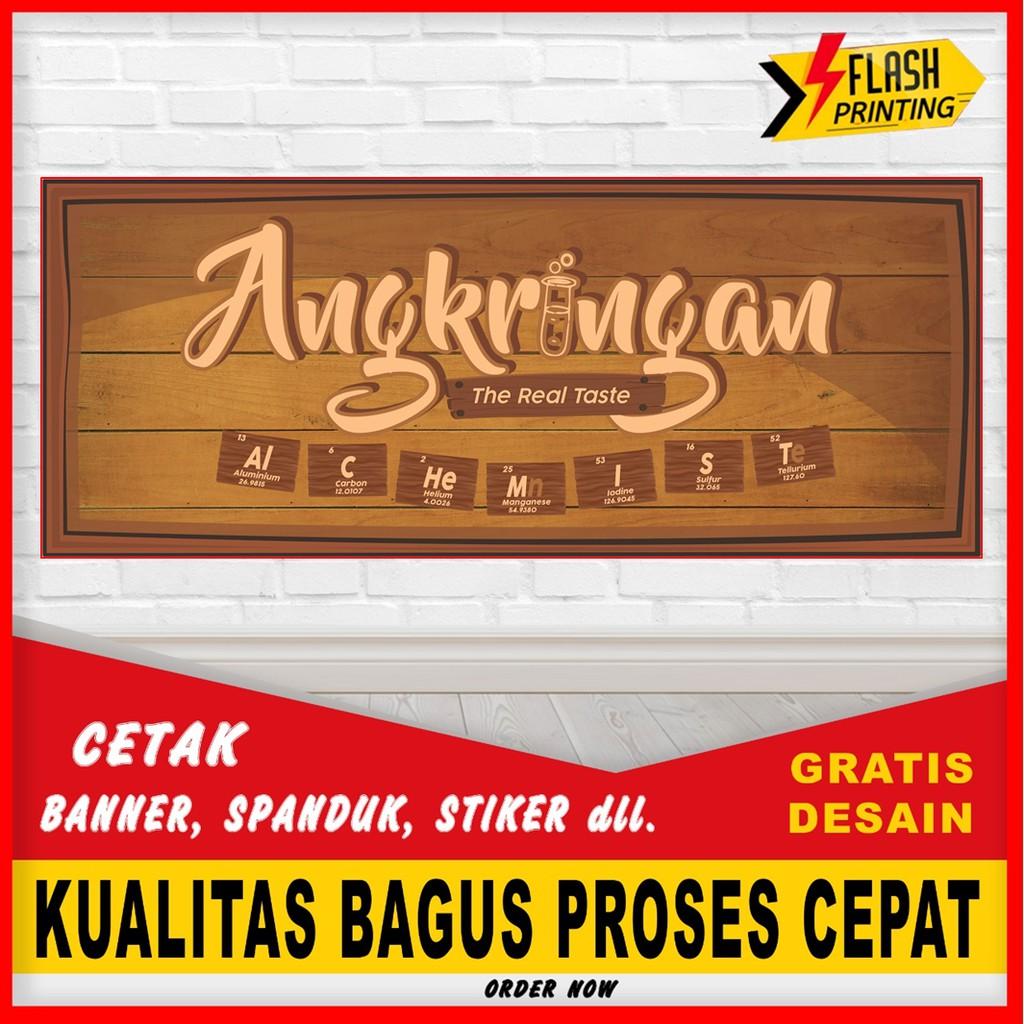 Cetak Spanduk Banner Angkringan Murah Bisa Request Tulisan Dan Custome Spanduk Jualan Murah Shopee Indonesia