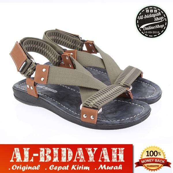 Sandal Trendy Whitelust Brown For Men   Sandal Bandung   Sandal Made Self   Sandal Cibaduyut
