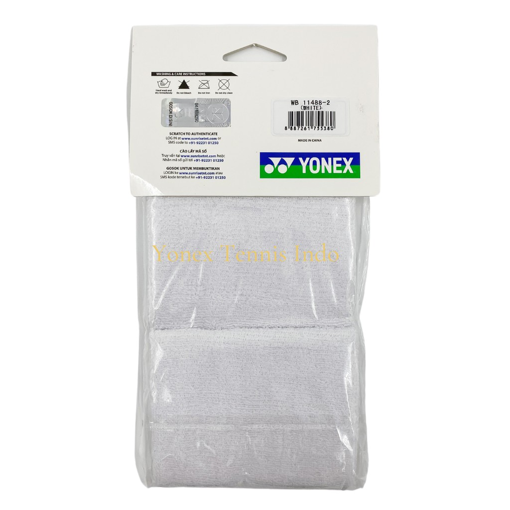 110x80 mm Made in Taiwan Details about  /Yonex Elastic Comfort Wrist Band WB 11488 Cotton