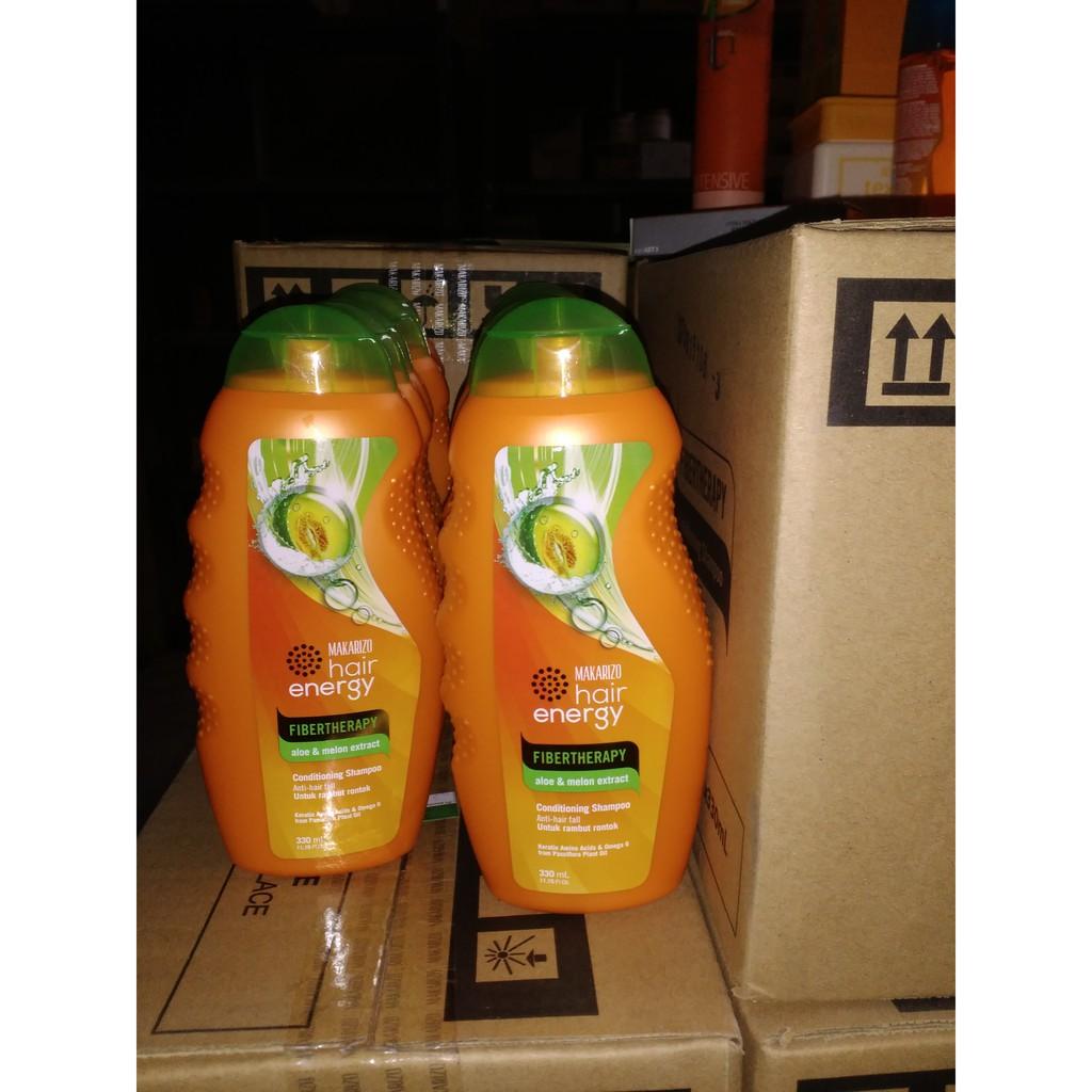 Makarizo Shampoo 170 Ml Hair Energy Fibertherapy Shopee Indonesia Conditioning Olive Extract