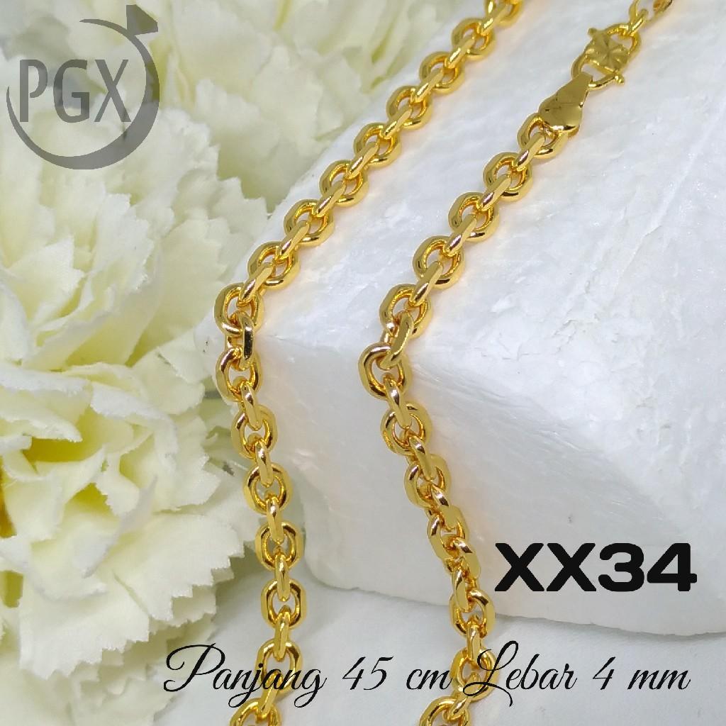 Kalung Anak Emas putih Rantai pecah kopi Perhiasn imitasi Yaxiya 1240   Shopee Indonesia