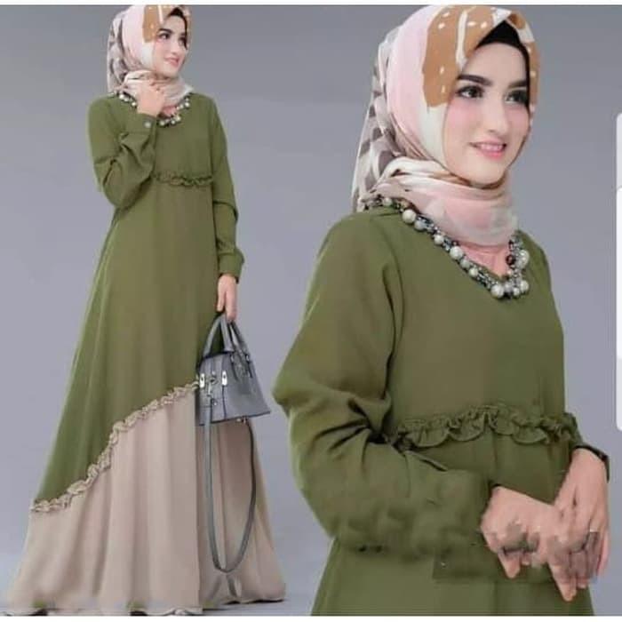 Baju Gamis Wanita Terbaru Dress Muslim Jamilah Maxi Muslim Shopee Indonesia