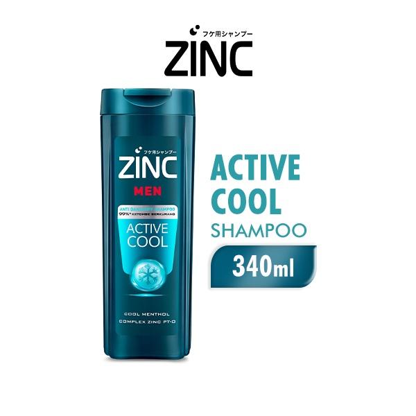 ZINC Shampoo Active Cool Botol 340ML