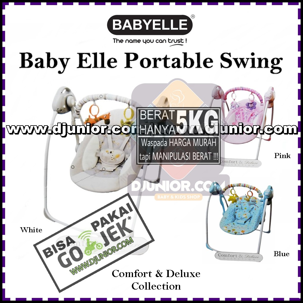 Mutiaratoys Bouncer Baby Elle Swing Electric Otomatis Shopee Indonesia Babyelle Automatic Pink 32007