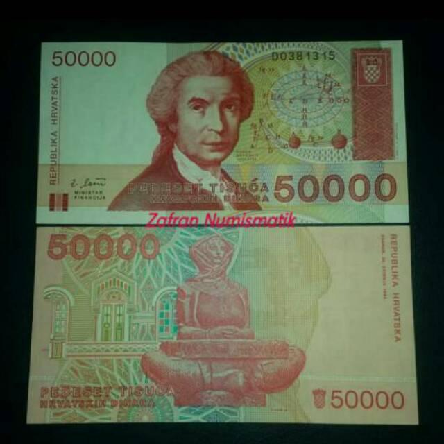 Dinara berapa hrvatska 50000 rupiah republika Mata Uang