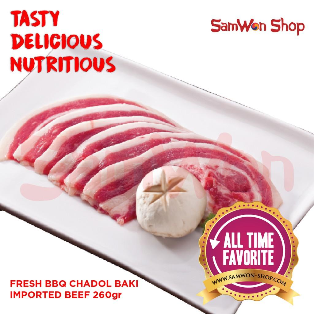 Fresh Bbq Wou Sul Imported Beef 48 Slice By Samwon Makanan Korea Tteokbokki Tokpoki Only 500 Gram Enak Lezat Bergizi Shopee Indonesia