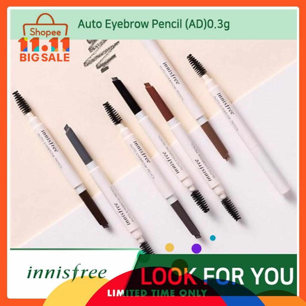 Innisfree Auto Eyebrow Pencil 100 Ori Kosmetic Makeup Eye Beauty Make In Korea Brow Shopee Indonesia