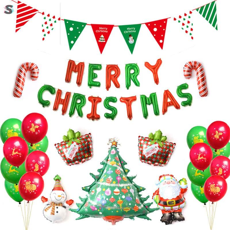 Christmas Alphabet.16 Inch Merry Christmas Alphabet Balloons Aluminum Foil Banner Santa Snowman Christmas Party Decor