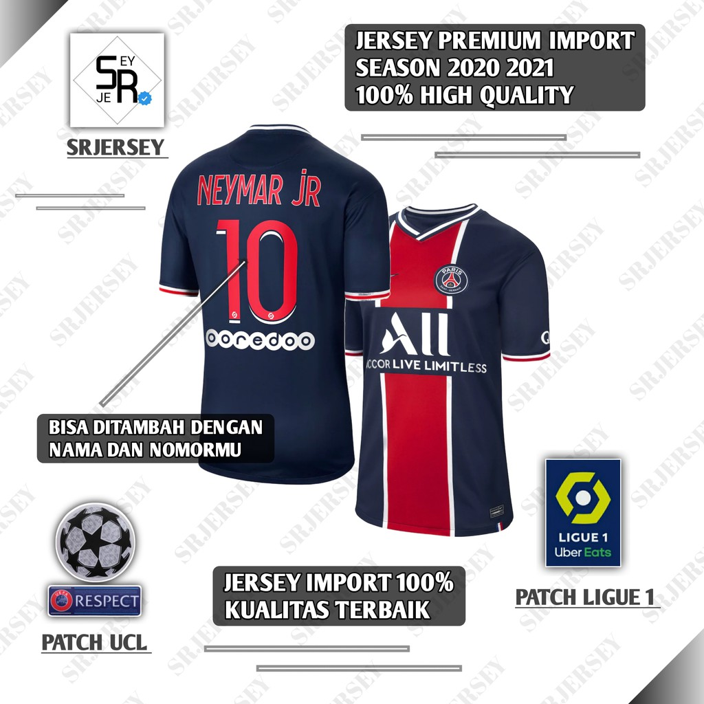 Premium Jersey Psg Home 2020 2021 Terbaru Import High Quality Baju Bola Olahraga Slim Fit Impor Top Shopee Indonesia