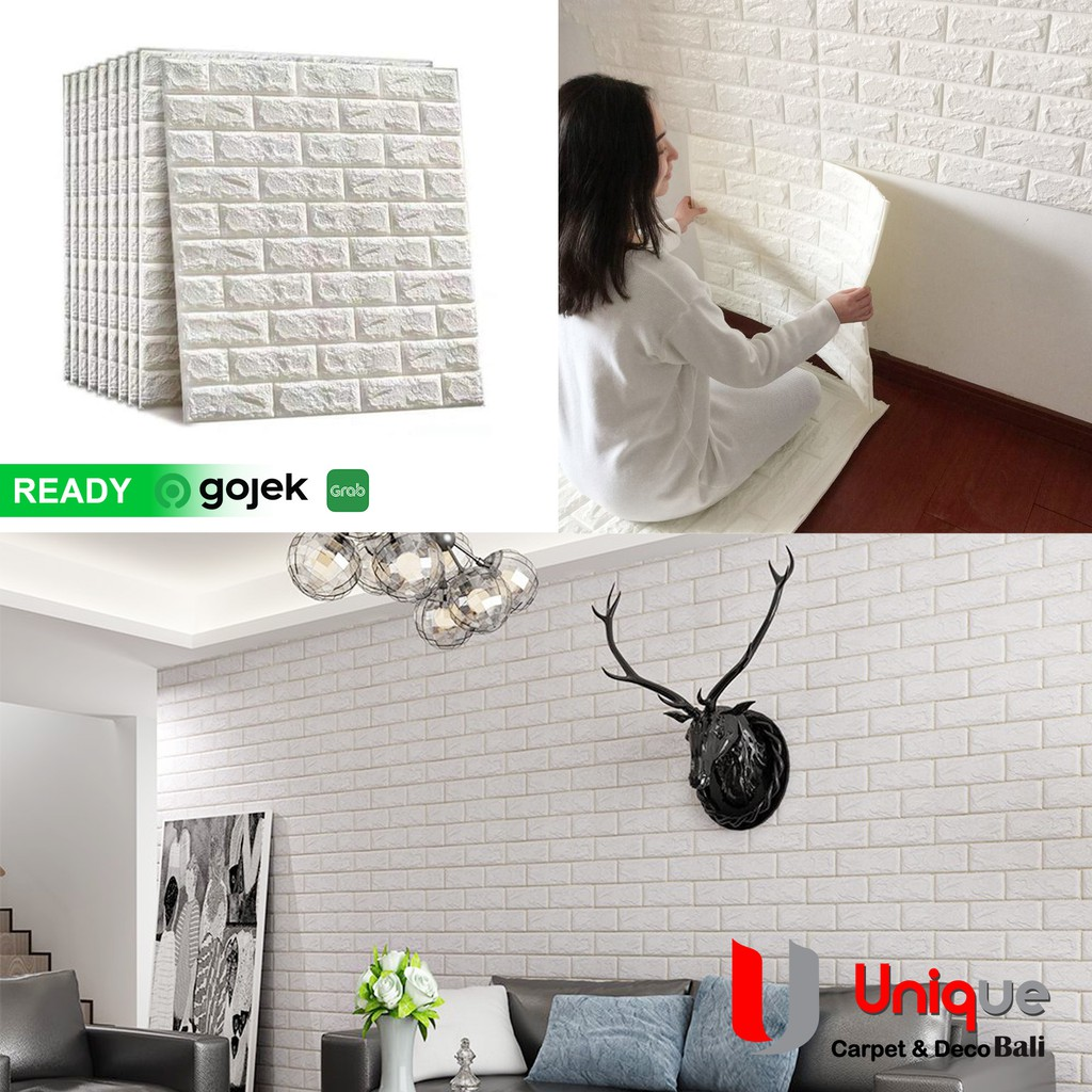 WALLPAPER 3D BRICK FOAM Wallpaper Dinding Motif Bata