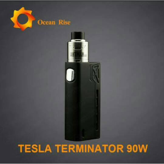 Paket Ngebul Authentic Tesla Terminator 90w Kit Vape Vapor Vaporizer Shopee Indonesia