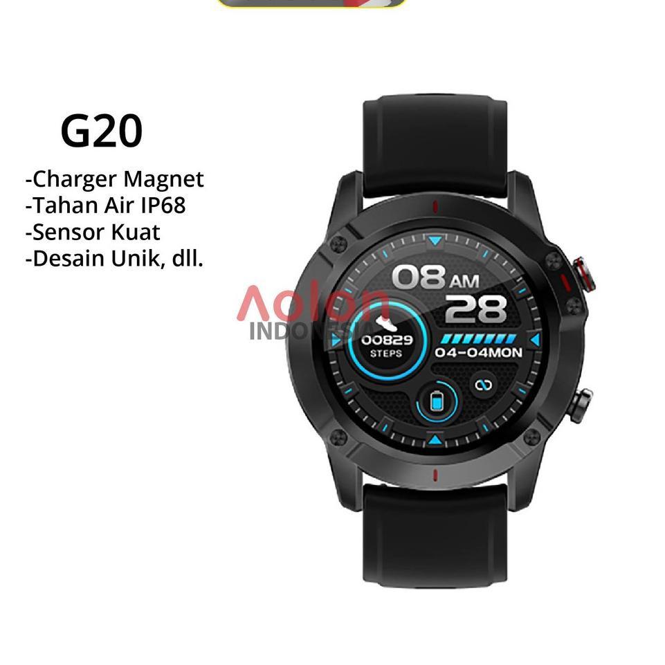 [ART. 34] AOLON G20 Smartwatch - Layar Sentuh / Weather Display / Pedometer / Notifikasi Pesan / Ant