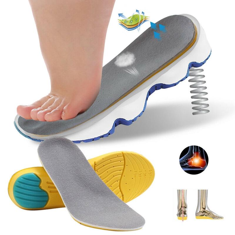 4D Shoe Insoles Memory Foam Cushions Arch Support Shoes Pads Massage Golden