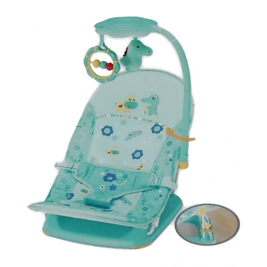 Bouncer Kursi Santai Bayi Mastela Fold Up Infant Seat + Toys Green