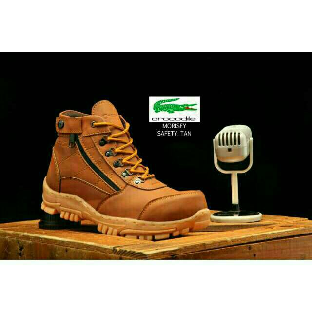Sepatu boots tracking 60rb an caterpillar safety kulit licin ujung besi  handmade  bf3b83766f