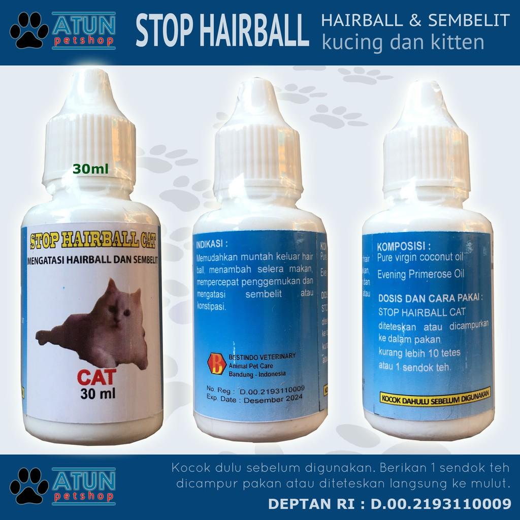 Obat Kucing Sembelit Susah Buang Air Dan Hair Ball Stop Hairball Shopee Indonesia