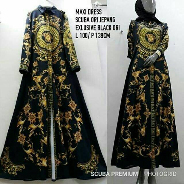 Gamis Versace Scuba Shopee Indonesia