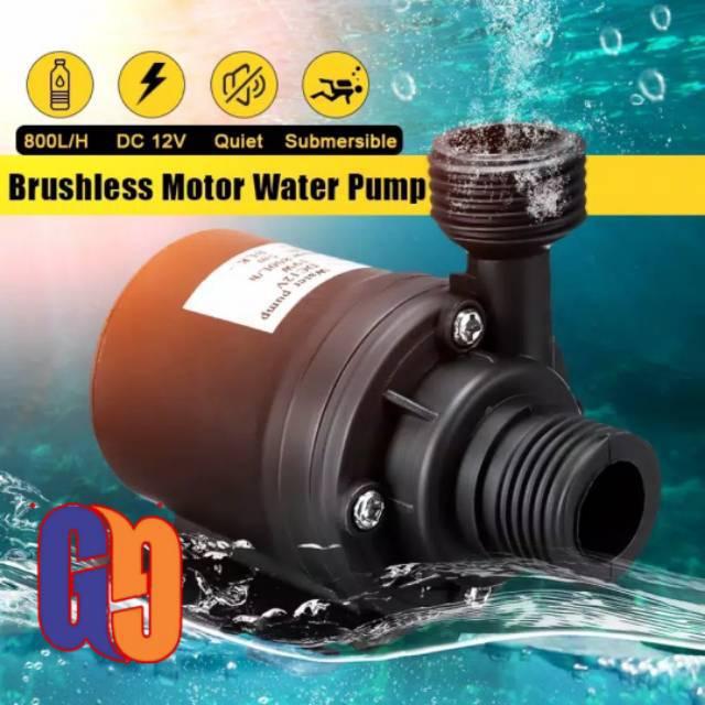 pompa air celup DC 12V Hmax 5M aquarium hidroponik 800L/H ...
