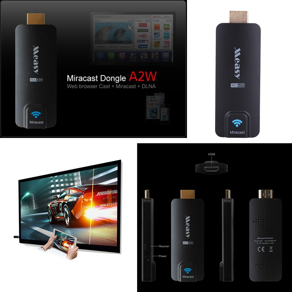 Original Measy A2W Miracast DLNA Airplay WiFi HDMI Dongle f// Smartphone Laptop