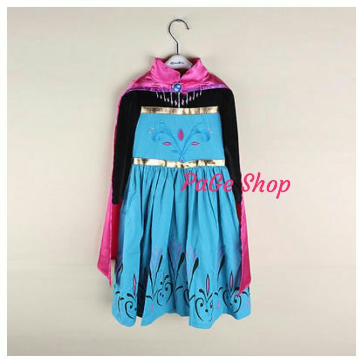 REAL PICTURE NO EDIT Kostum Elsa Frozen Dress Baju Pesta Import Gaun LestariiAbadi   Shopee Indonesia