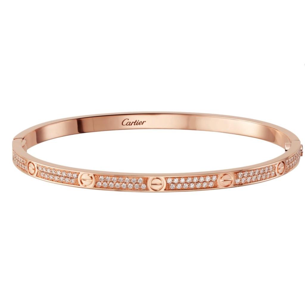Gelang Pink Gold Aksen Berlian Imitasi