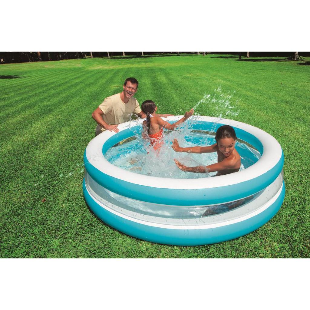 Kolam Renang Intex Center See Through Round Pool 57489 Swim Blue Anak Karet 57412 114cm Shopee Indonesia